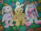 TY Beanie Babies - Easter  Set of 3, Fritters, Springston & Floppity  -NOTE RARE