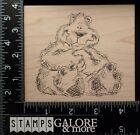 JUDITH USED RUBBER STAMPS T 14 SKETCHED BIG TEDDY BEAR SITTING ANIMAL 2750