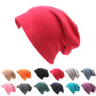 Opromo Mens Womens Soft Cotton Baggy Oversized Slouchy Beanie Hat, Pink