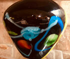 SDS Seapoot Group Glass Vase Deep Purple w swirled colors Blown