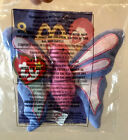 Ty Teenie Beanie Babies 1999 Flitter the Butterfly #8. McDonald's Sealed in Bag.