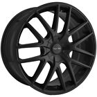 4 Touren TR60 17x75 5x110 5x115 +42mm Matte Black Wheels Rims 17 Inch