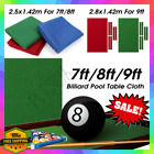 Professional Billiard Pool Table Cloth Mat Cover Felt Accessories 7 8 9 Ft Foot