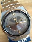 Seiko 5  Day Date Grau/Silber/Gold Automatic   7S26-8760 TOP