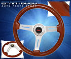 For Nissan 345mm Jdm 6 Bolt Hole Wood Grain Style Deep Dish Steering Wheel Brown