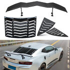 Rear and Side Window Louvers  Trunk Wings Spoiler Fits Chevy Camaro 2010 2015
