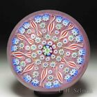 John Deacons patterned millefiori and radial spokes glass paperweight