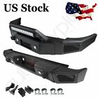 Front Rear Bumpers For Silverado1500sierra1500 07-13 Guard Steel W Led Light