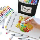 Bianyo Professional Series Alcohol Based Dual Tip Brush Markers Set of 72