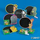 12 Zoo Animal Magnetic Chalkboards with Chalk Sets Birthday Party Favors