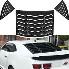 3pcs Rear  Side Window Louvers Windshield Cover For Chevrolet Camaro 2010 2015