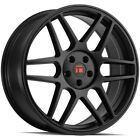 4 Touren TR74 17x8 5x120 +40mm Matte Black Wheels Rims 17 Inch