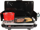 Portable Grill  Stove Combo Camping Tailgate 2 Burner Outdoor Travel Cooker