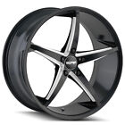 4 Touren TR70 18x8 5x110 +40mm Black Milled Wheels Rims 18 Inch