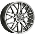 4 Platinum 459G Retribution 18x8 5x110 +35mm Graphite Wheels Rims 18 Inch
