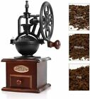 Manual Coffee Grinder Antique Cast Iron Hand Crank Coffee Mill with Wood Drawer