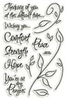 Encouraging Words  Prayers Clear Acrylic Stamp Set by Stampendous SSC134 NEW
