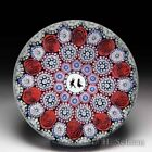 Mike Hunter 2020 close concentric millefiori roses  silhouette cane paperweight