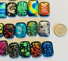 Handmade 50 Dichroic Glass Fused Cabochons All Different Regular size P