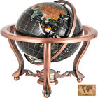 Unique 14 Tall Black Tripod Globe Gold Leg table World Map