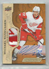 18-19 UD Engrained Rookie Patch Auto Michael Rasmussen #57 18 65 Red Wings