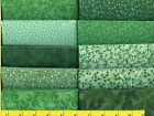 Classic Green Jelly Roll 40 2 1 2  Strips Quilting  Sewing Fabric
