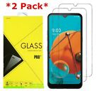2 Pack Premium Real 9H Tempered Glass Screen Protector Film For LG K51