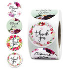 500 Pcs Thank You Stickers Seal Labels with Flower for Wedding Party WF