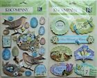 LOT OF 2 SUSAN WINGET KCompany Grand Adhesions Dimensional Stickers NEW birds