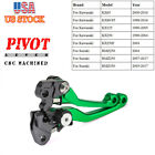 CNC Pivot Brake Clutch Levers For Kawasaki KX65 80 125 250 Suzuki RMZ250 450 US