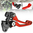 2x Red CNC Pivot Brake Clutch Lever fit for Honda CRF150R 125R 450R 125F 500R US