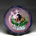 David Salazar 1997 angelfish surface sculpted compound faceted glass paperweight
