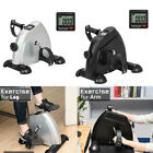 Portable Exercise Bike Hands Feet Trainer Foot Pedal LCD Bicycle Home Use NEW