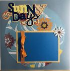 Premade Scrapbook Page 12x12 SPRING Sunny Days Flowers SUMMER Paper Piece SEWN