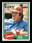Pete Rose Autographed Auto 1981 Topps Card #180 Philadelphia Phillies 175560