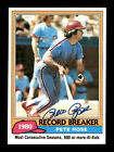 Pete Rose Autographed Auto 1981 Topps Card #205 Philadelphia Phillies 175563