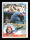 Pete Rose Autographed Auto 1983 Topps Card #100 Philadelphia Phillies 175584