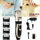 Low noise Pet Cat Dog Hair Clipper Trimmer Shaver Cordless Grooming Clipper US