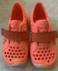 Plae Little Girls Mimo Double Strap Sneaker Shoes Coralin Size 9 Youth