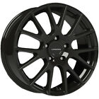 4 Vision 18 Hellion 17x75 5x45 +40mm Gloss Black Wheels Rims 17 Inch