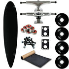 Moose Longboard Complete 9 x 43 Pintail Black Easy and Fun to Build