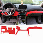 Red Dashboard Panel Decorative Strip Cover Leather For Nissan Sentra 2020 2021