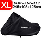 Black Waterproof XL Motorcycle Cover Scooter Ourdoor For Suzuki V-Strom 650 1000