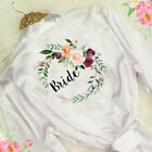 Ladies Floral Bride Satin Wedding Party Robe Bridesmaid Mother Dressing Gown