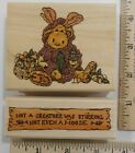 2 Rubber Stamps Boyds Bears Eco Moose Holiday & Saying/Sign #H21028 & #E21026