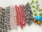 Bulk Lot Lampwork Glass Beads Heart Pink Red Purple Spacer Bead Mix 10 lbs