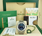 Rolex Mens Platinum & Stainless Yachtmaster Blue Dial BOX CARD 116622 SANT BLANC
