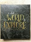 CRAFTSMART 40 page Scrapbook Album  WHOLE WORLD TO EXPLORE  85 x 11