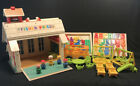 Vintage Fisher Price Little People Play Family School House 923 letters BUS