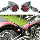 Motorcycle LED Chrome Red Switch Blinker Turn Signal Brake Tail Light For Harley